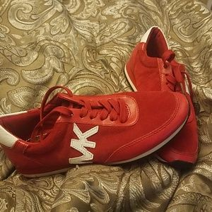 Red Michael Kors Tennis shoes